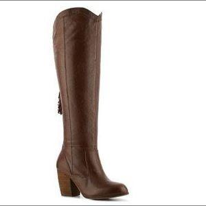 Steve Madden Turner heeled leather  Boots 6.5